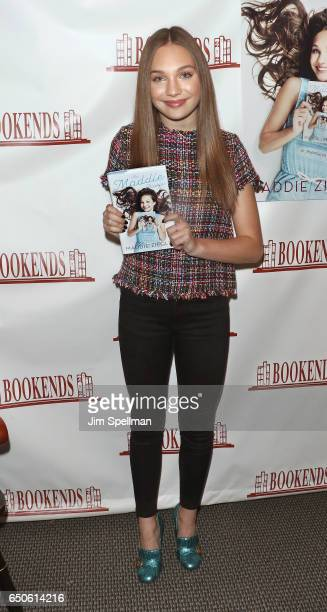 """Dancer Maddie Ziegler signs copies of """"The Maddie Diaries"""" at Bookends Bookstore on March 9, 2017 in Ridgewood, New Jersey."""