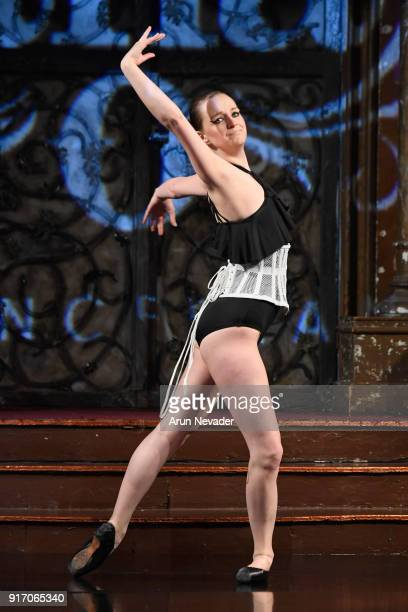 Dancer Maggie Kudirka performs on the runway during the Project Cancerland featuring AnaOno Initmates presentation during New York Fashion Week...