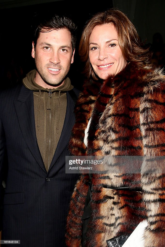 Dancer Maksim Chmerkovskiy and Countess LuAnn De Lesseps attend the Zang Toi Fall 2013 fashion show during Mercedes-Benz Fashion Week at The Stage at Lincoln Center on February 13, 2013 in New York City.