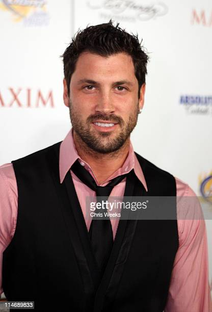 Dancer Maksim Chmerkovskiy arrives at the 11th annual Maxim Hot 100 Party with HarleyDavidson ABSOLUT VODKA Ed Hardy Fragrances and ROGAINE held at...