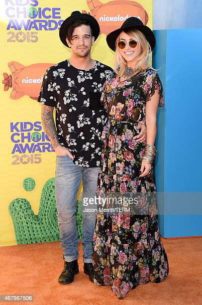Dancer Mark Ballas and singersongwriter BC Jean attend Nickelodeon's 28th Annual Kids' Choice Awards held at The Forum on March 28 2015 in Inglewood...