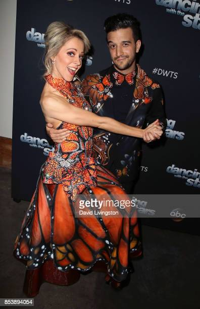 Dancer Mark Ballas and violinist Lindsey Stirling attend 'Dancing with the Stars' season 25 at CBS Televison City on September 25 2017 in Los Angeles...