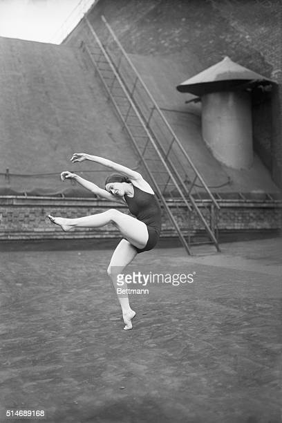 Dancer Martha Graham performs on a Boston rooftop