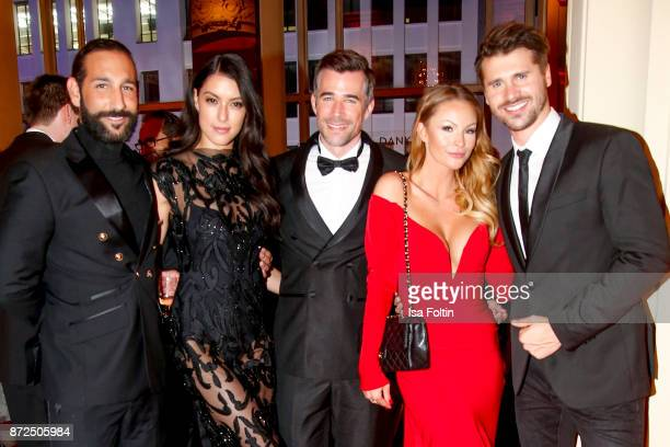 Dancer Massimo Senato with his wife Rebecca Mir German actor Jo Weil German actress Jana Julie Kilka and her boyfriend German actor and presenter...