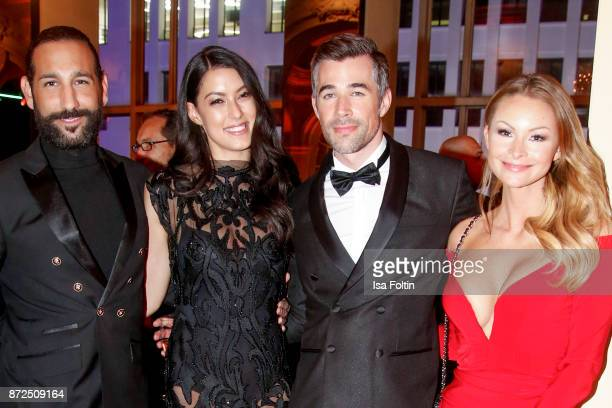 Dancer Massimo Senato with his wife Rebecca Mir German actor Jo Weil and German actress Jana Julie Kilka attend the GQ Men of the year Award 2017...