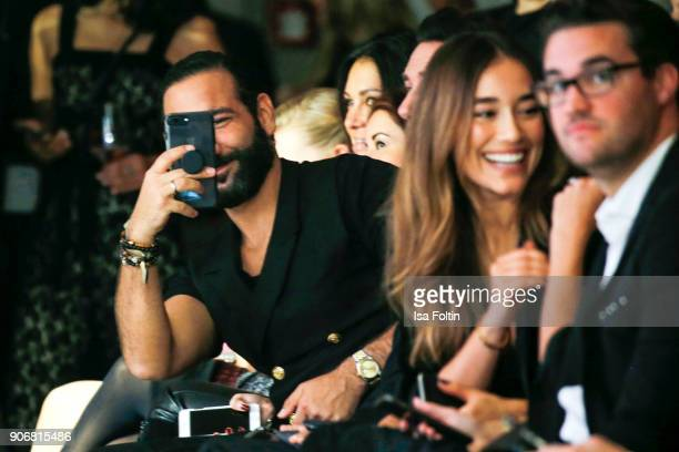 Dancer Massimo Sinato and Anna Sharypova during the Maybelline Show 'Urban Catwalk - Faces of New York' at Vollgutlager on January 18, 2018 in...