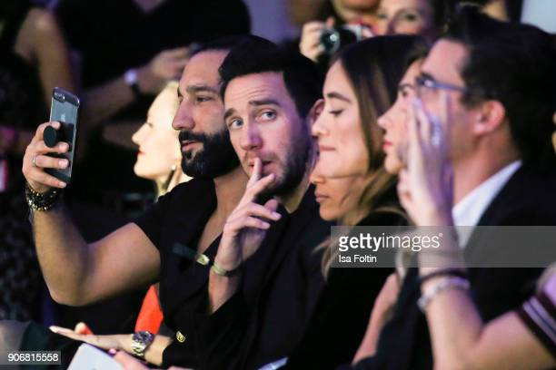 Dancer Massimo Sinato and Marcel Remus during the Maybelline Show 'Urban Catwalk Faces of New York' at Vollgutlager on January 18 2018 in Berlin...