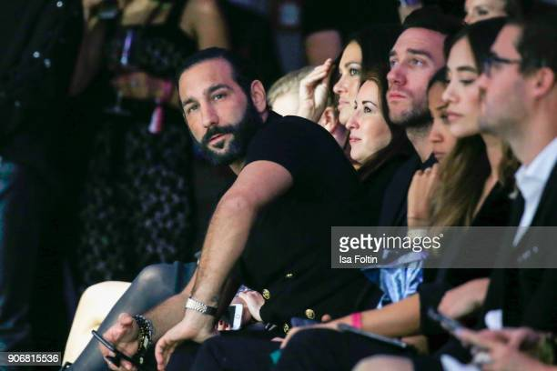 Dancer Massimo Sinato, Marcel Remus and Anna Sharypova during the Maybelline Show 'Urban Catwalk - Faces of New York' at Vollgutlager on January 18,...