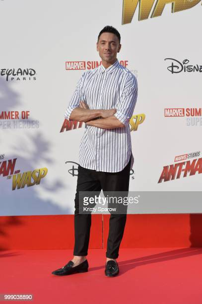 Dancer Maxime Demeyrez attends the European Premiere of Marvel Studios 'AntMan And The Wasp' at Disneyland Paris on July 14 2018 in Paris France