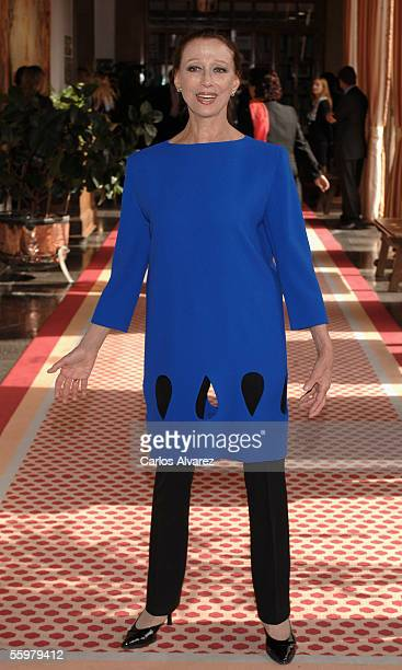 Dancer Maya Plisetskaya arrives to an audence with Prince Felipe of Spain before Prince of Asturias Awards ceremony on October 21 at Hotel...