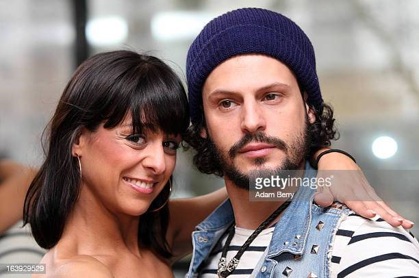 Dancer Melissa OrtizGomez and actor Manuel Cortez pose at a photo call for the television competition Let's Dance on March 18 2013 in Berlin Germany...