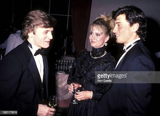 Dancer Mikhail Baryshnikov, singer Olivia Newton-John and husband Matt Lattanzi attend the 13th Annual American Film Institute Lifetime Achievement...