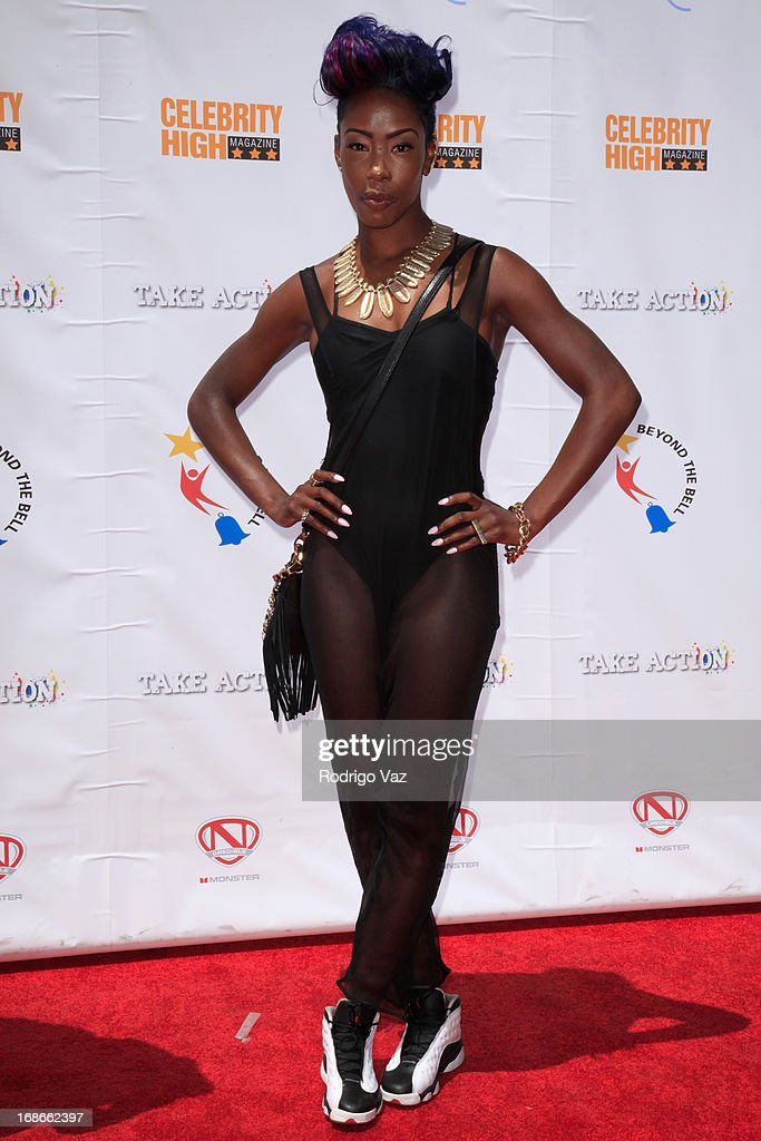 Dancer Miss Prissy arrives at LAUSD's Beyond the Bell Branch and Nick Cannon's Celebrity High Present 'Spotlight On Success' at Paramount Studios on May 11, 2013 in Hollywood, California.