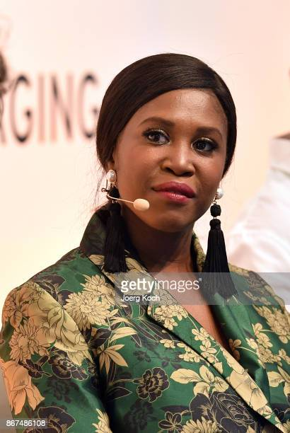 Dancer Motsi Mabuse attends the Bunte Beauty Days at Messe Muenchen on October 28, 2017 in Munich, Germany.