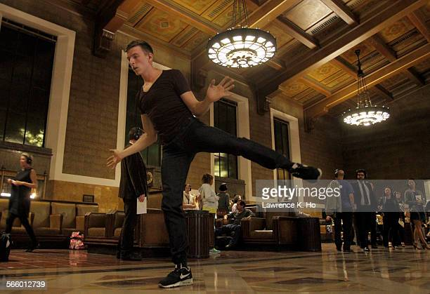 Dancer Nathan Makolandra during dress rehearsal of the opera Invisible Cities in Union Station in Los Angeles on Oct 17 2013 Invisible Cities The...