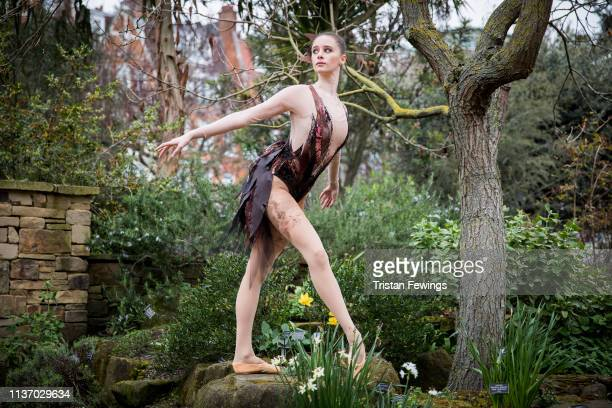 Dancer Nell Maude poses during the 'Bird Woman' Ballet Central 2019 Tour photocall at Chelsea Physic Garden on March 20 2019 in London England The...