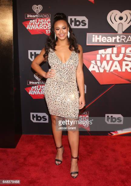 Dancer Nia Sioux attends the 2017 iHeartRadio Music Awards which broadcast live on Turner's TBS TNT and truTV at The Forum on March 5 2017 in...