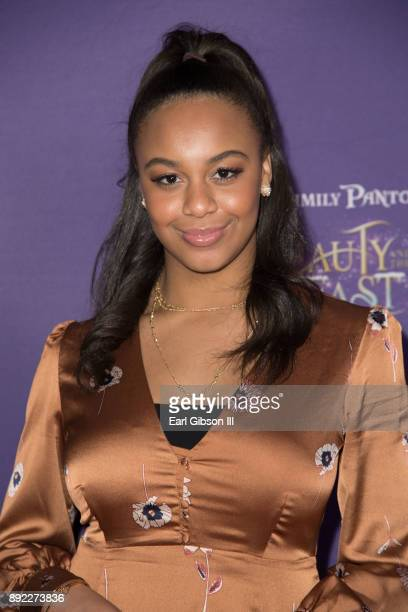 Dancer Nia Sioux attends the Lythgoe Family Pantos Opening Night Performance Of 'Beauty And The BeastA Christmas Rose' at Pasadena Civic Auditorium...