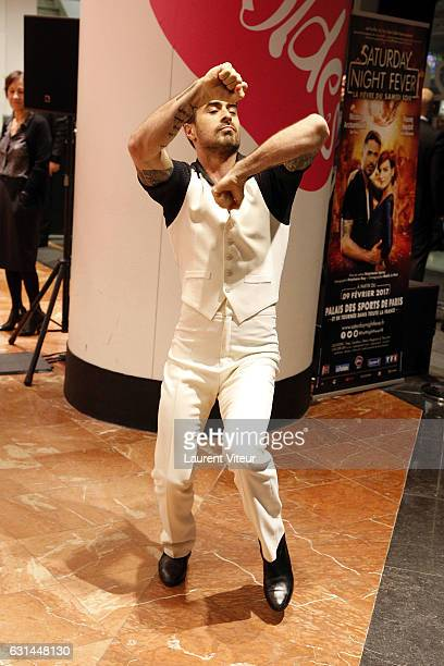 Dancer Nicolas Archambault Performs a Teaser of Musical Comedy 'Saturday Night Fever' to Launch the Galeries Lafayette Winter Sales at Galeries...