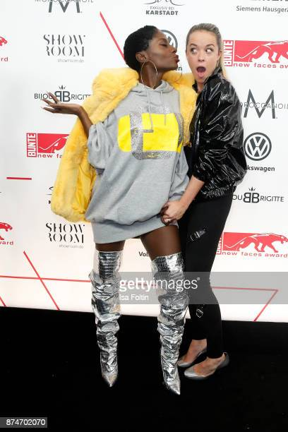Dancer Nikeata Thompson and fashion designer Marina Hoermanseder attend the New Faces Award Style 2017 at The Grand on November 15, 2017 in Berlin,...