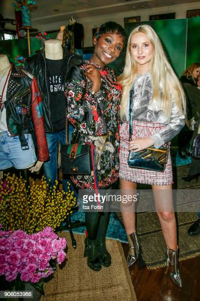 Dancer Nikeata Thompson and model Anna Hiltrop attend the Thomas Sabo Press Cocktail during the MercedesBenz Fashion Week Berlin A/W 2018 at China...