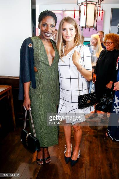 Dancer Nikeata Thompson and model Cathy Hummels attend the Thomas Sabo Press Cocktail during the MercedesBenz Fashion Week Berlin Spring/Summer 2017...
