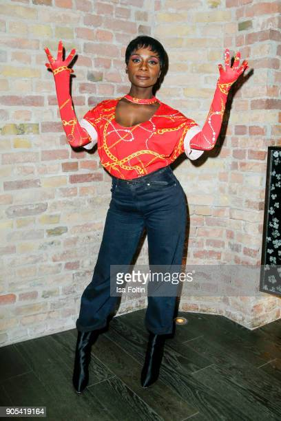 Dancer Nikeata Thompson during the Bunte New Faces Night at Grace Hotel Zoo on January 15 2018 in Berlin Germany