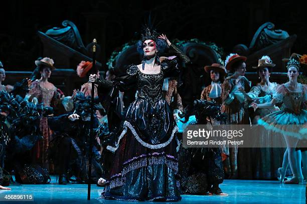 Dancer Nolwenn Daniel performs character Carabosse in Rudolf Nureyev's Sleeping Beauty within the Reves d'Enfants Arop charity event at Opera...