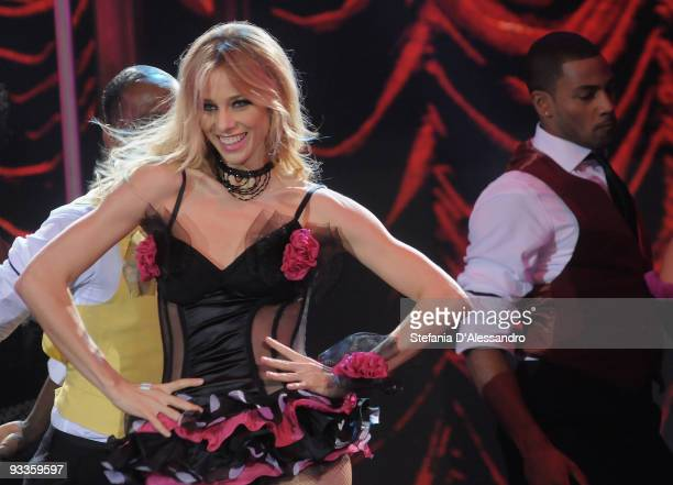 Dancer Nora Mogalle performs during 'Chiambretti Night' Italian Tv Show on November 24 2009 in Milan Italy
