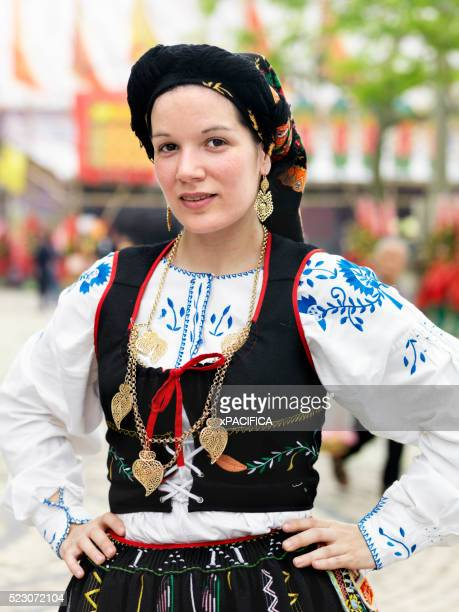 a dancer of the friends of the macanese heart association - traditionally portuguese stock pictures, royalty-free photos & images