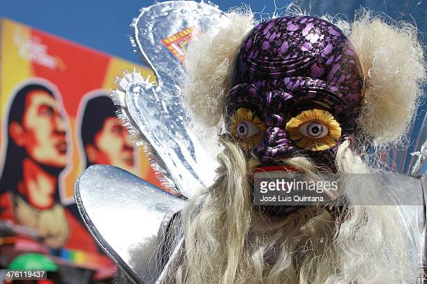 Dancer of the Morenada Central Cocanis de Oruro enters the majestic Folcloric Oruro entrance on March 01 2014 in Oruro Bolivia Listed by Unesco as a...