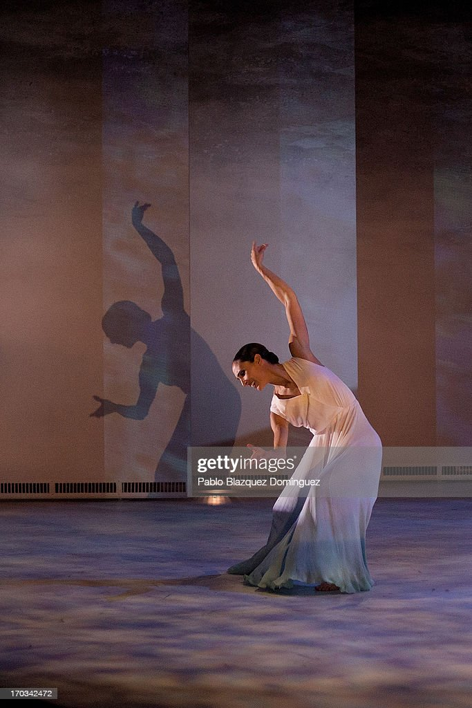 A dancer of the Spanish National Ballet performs during 'Sorolla' presentation at Naves del Espanol on June 11, 2013 in Madrid, Spain.