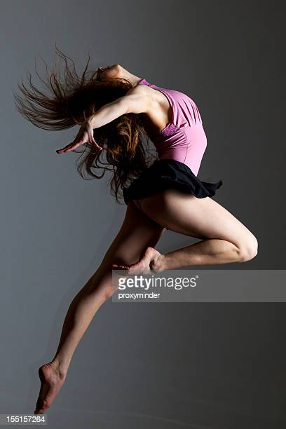 Dancer on grey background