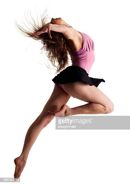 dancer on white background - ballerina feet stock photos and pictures