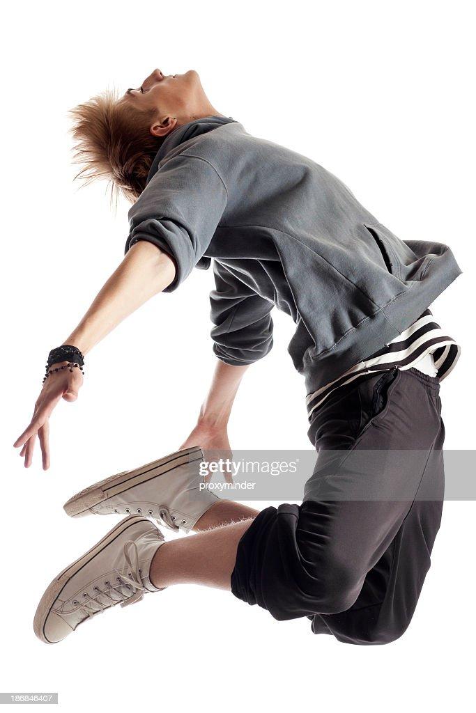 Dançarina no fundo branco : Foto de stock
