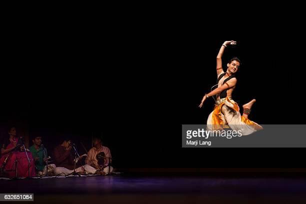Dancer performing bharatanatyam for 'Banaras the Music City of UNESCO' at The Stein Auditorium India Habitat Centre on 17th September 2016 'Shiv Ki...