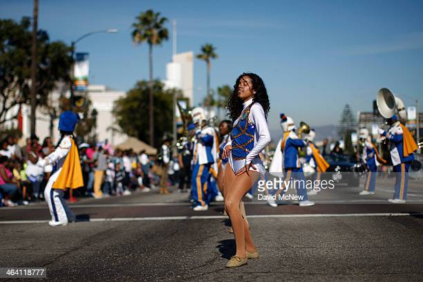 A dancer performs at the 29th annual Kingdom Day Parade on January 20 2014 in Los Angeles California The Kingdom Day Parade honors the memory of...