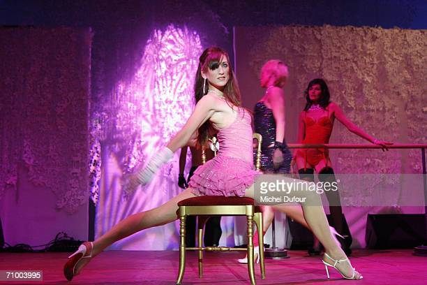 A dancer performs at the Trophee Chopard party at the Carlton Hotel as part of the 59th International Cannes Film Festival on May 20 2006 in Cannes...