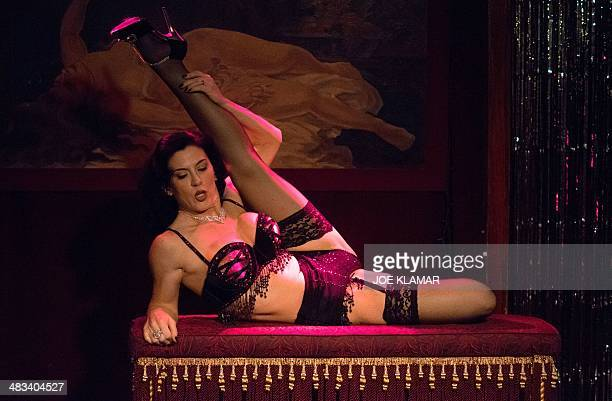 A dancer performs during the Monday Night Tease burlesque show in 3 CLUBS in Hollywood California on April 072014Monday Night Tease L A's longest...