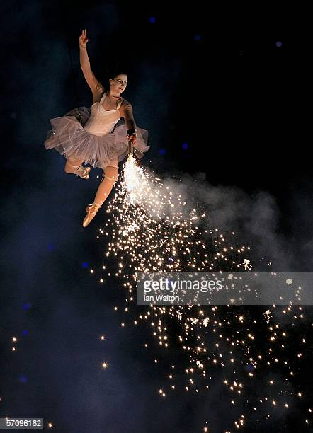 Dancer performs during the Opening Ceremony for the Melbourne 2006 Commonwealth Games at the Melbourne Cricket Ground March 15, 2006 in Melbourne,...