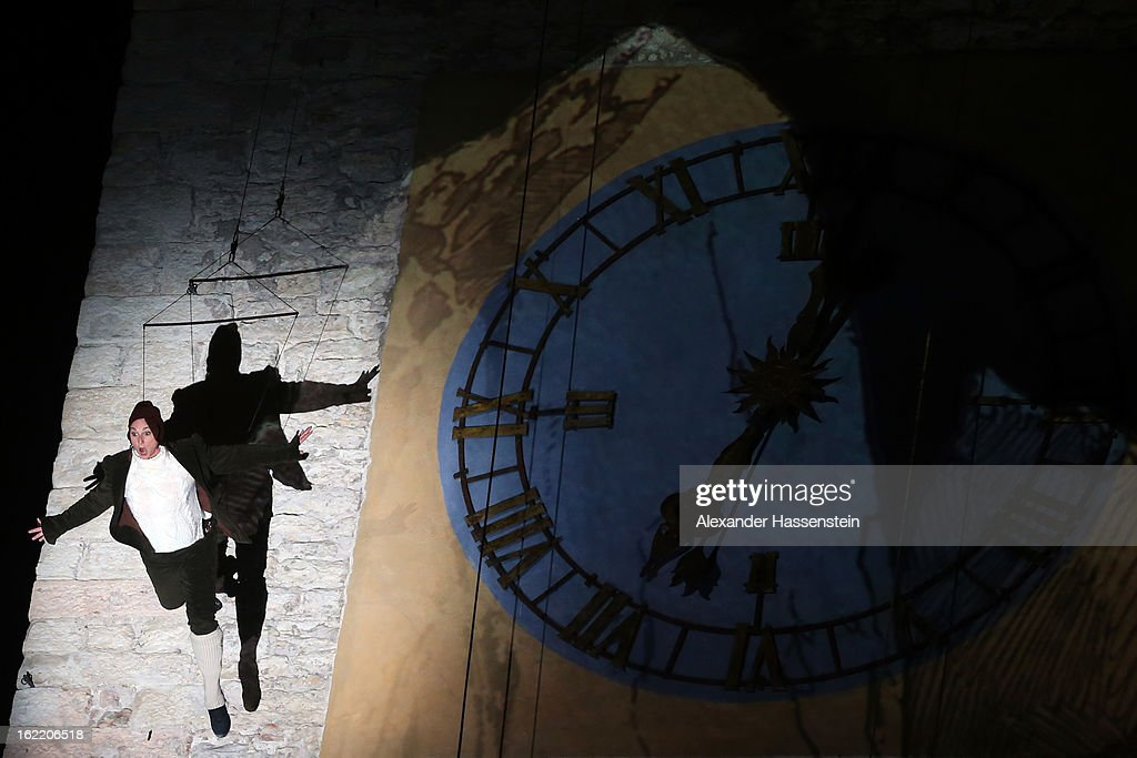 Dancer performs during the Opening Ceremony of the FIS Nordic World Ski Championships at the Piazza Duomo on February 20, 2013 in Trento, Italy.