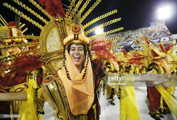 A dancer performs during the Rio Carnival in Rio de Janeiro in February 2016 ==Kyodo