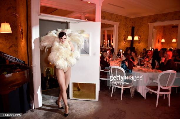 A dancer performs during the Scandal A Paris JeanPaul Gaultier's New Fragrance Launch Dinner Party at Lassere on April 24 2019 in Paris France