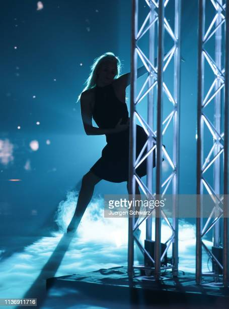 A dancer performs during the second event show of the tv competition Deutschland sucht den Superstar at Coloneum on April 13 2019 in Cologne Germany...