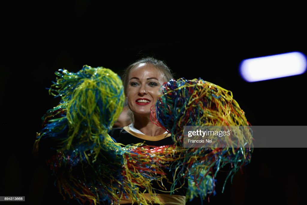 A dancer performs during the T10 League Final match between Kerela Kings and Punjabi Legends at Sharjah Cricket Stadium on December 17, 2017 in Sharjah, United Arab Emirates.