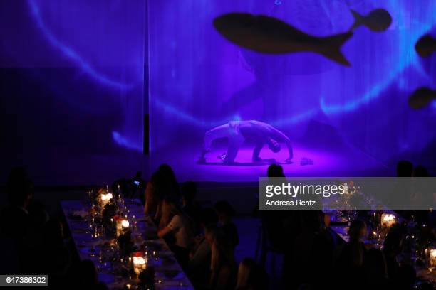 Dancer performs on stage during the Glammy Award 2017 on March 2, 2017 in Munich, Germany.