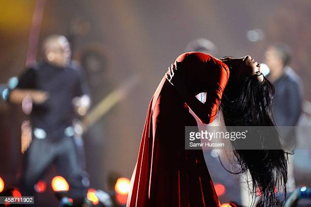 A dancer performs on stage during the MTV EMA's 2014 at The Hydro on November 9 2014 in Glasgow Scotland