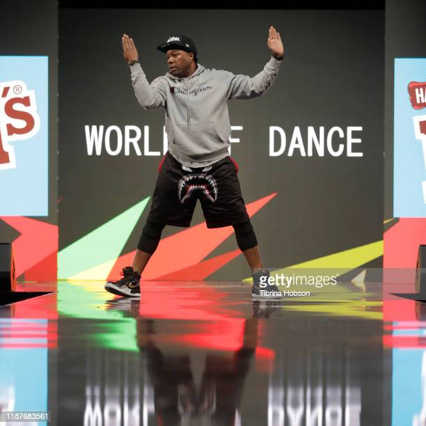 A dancer performs onstage during World of Dance at BET Her Presents Fashion Beauty during the BET Experience at Los Angeles Convention Center on June...
