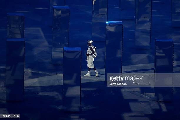 A dancer performs the After the Party segment during the Opening Ceremony of the Rio 2016 Olympic Games at Maracana Stadium on August 5 2016 in Rio...