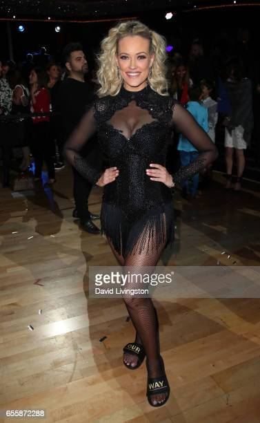Dancer Peta Murgatroyd attends 'Dancing with the Stars' Season 24 premiere at CBS Televison City on March 20 2017 in Los Angeles California